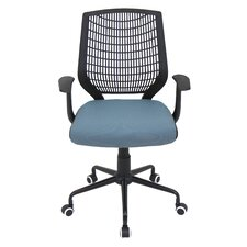 Network Mid-Back Bungee Chair with Arm