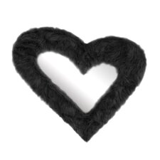 Heart Furr Mirror
