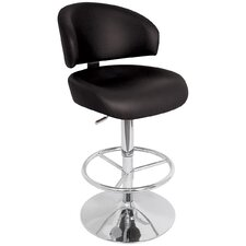 "<strong>LumiSource</strong> Regent 28"" Adjustable Swivel Bar Stool with Cushion"
