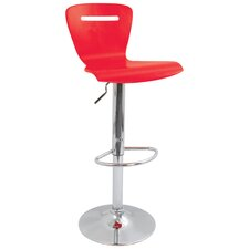H2 Adjustable Height Bar Stool in Red