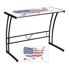 <strong>LumiSource</strong> USA Flag Map Expression Sigma Writing Desk