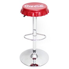 "<strong>LumiSource</strong> Coca-Cola 24"" Adjustable Swivel Bar Stool"