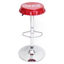 Coca-Cola Adjustable Height Swivel Bar Stool