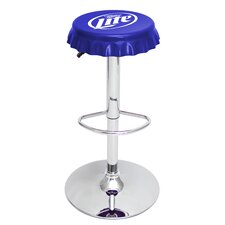 "Miller Lite® Bottle Cap 24"" Adjustable Swivel Bar Stool"