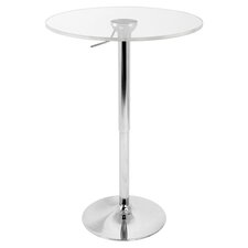 Adjustable Bar Table with Acrylic Top