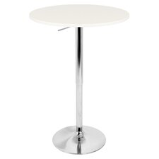 Adjustable Bar Table with White Top