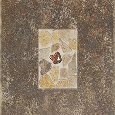 "Castle De Verre 12-13/16"" x 9-13/16"" Decorative Accent Tile in Regal Rouge"