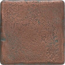 "Castle Metals 4"" x 4"" Decorative Wall Tile in Aged Copper"