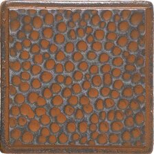 "<strong>Daltile</strong> Castle Metals 2"" x 2"" Hammered Dot Decorative Accent Tile in Wrought Iron"