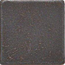 "Castle Metals 2"" x 2"" Basic Dot Decorative Accent Tile in Wrought Iron"