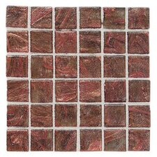 "Elemental Glass 3/4"" x 3/4"" Mosaic Tile in Copper Kettle"