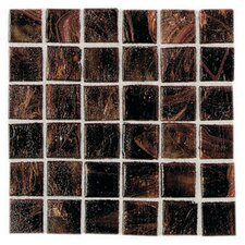 "Elemental Glass 3/4"" x 3/4"" Mosaic Tile in Rootbeer Float"