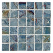 "Elemental Glass 12"" x 12"" Mosaic Tile in Storm Clouds"