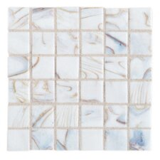 "Elemental Glass 12"" x 12"" Mosaic Tile in Divinity"