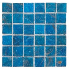 "Elemental Glass 12"" x 12"" Mosaic Tile in Curacao"