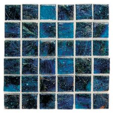 "<strong>Daltile</strong> Elemental Glass 12"" x 12"" Mosaic Tile in Cornflower"