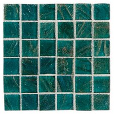 "Elemental Glass 12"" x 12"" Mosaic Tile in Turquoise"