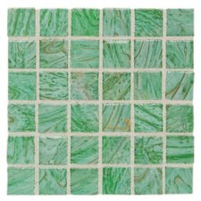 "Elemental Glass 3/4"" x 3/4"" Mosaic Tile in Kiwi Punch"