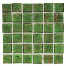 "Elemental Glass 12"" x 12"" Mosaic Tile in Sour Apple"