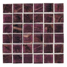 "Elemental Glass 12"" x 12"" Mosaic Tile in Cranberry Crush"