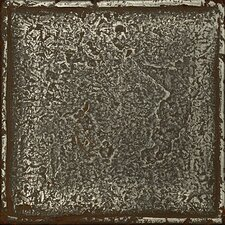 "Metal Signatures Chateau 6"" x 6"" Glazed Field Tile in Aged Iron"