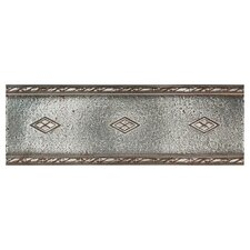 "Metal Signatures Diamond Weave 12"" x 4"" Floor Border in Aged Iron"