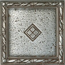 "Metal Signatures Diamond Weave 4"" x 4"" Floor Border Corner Tile in Aged Iron"