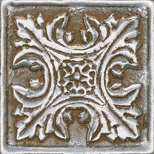 "<strong>Daltile</strong> Metal Signatures Floral Dot 2"" x 2"" Decorative Tile in Aged Iron"