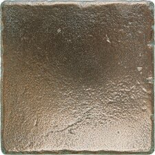 "Metal Signatures Tumbled Stone 4"" x 4"" Field Tile in Aged Bronze"