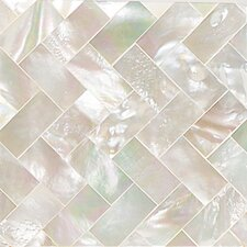 "<strong>Daltile</strong> Ocean Jewels 2"" x 2"" Herringbone Accent Tile in Mother of Pearl"