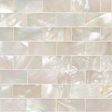 "Ocean Jewels 2"" x 2"" Running Board Accent Tile in Mother of Pearl"