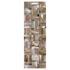 "<strong>Daltile</strong> Ocean Jewels 6"" x 2"" Basketweave Raised Accent Strip in Brown Lip"
