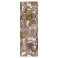 "Ocean Jewels 6"" x 2"" Hexagon Raised Accent Strip in Brown Lip"