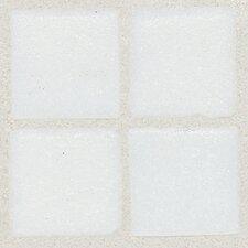 "Sonterra 1"" x 1"" Glass Semi-Gloss Opalized Mosaic Tile in Oyster White"