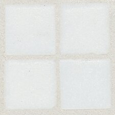 "Sonterra Collection 1"" x 1"" Opalized Mosaic Tile in Oyster White"