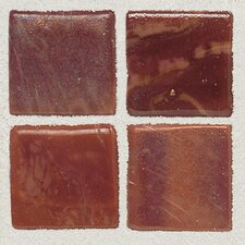 "Sonterra Collection 1"" x 1"" Opalized Mosaic Tile in Terracotta"