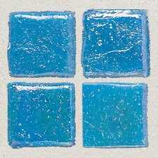 "Sonterra Collection 1"" x 1"" Iridescent Mosaic Tile in Cancun Blue"