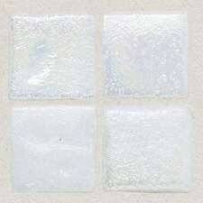 "Sonterra Collection 1"" x 1"" Iridescent Mosaic Tile in Oyster White"