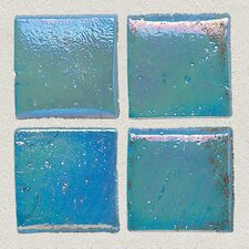 "Sonterra Collection 1"" x 1"" Iridescent Mosaic Tile in Azul Verde"