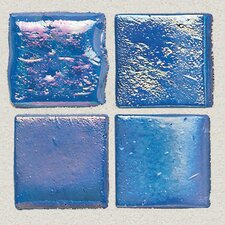 """Sonterra Collection 1"""" x 1"""" Iridescent Mosaic Tile in Navy Blue"""