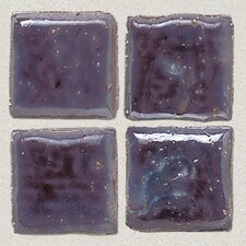 "Sonterra Collection 1"" x 1"" Iridescent Mosaic Tile in Purple"