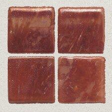 "Sonterra Collection 1"" x 1"" Iridescent Mosaic Tile in Terracotta"