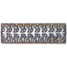 "Cristallo Glass 8"" x 3"" Perennial Decorative Accent in Black Opal"