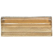 "Cristallo Glass 3"" x 8"" Decorative Chair Rail in Smoky Topaz"