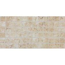 Fidenza Ceramic Unpolished Mosaic in Bianco