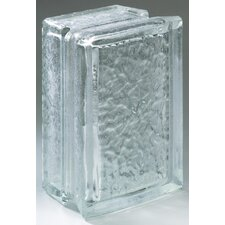 "Glass Block 8"" x 6"" Icescapes Arque Block"
