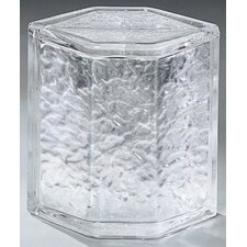 "Glass Block 8"" x 6"" Icescapes Hedron Corner Unit"