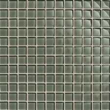 "Maracas Glass 12"" x 12"" Glossy Mosaic Tile in Oak Moss"