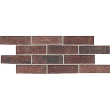 "Union Square 2-1/4"" x 8"" Brick Field Tile in Courtyard Red"