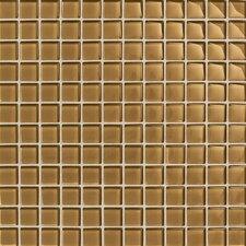 "Maracas Glass 1"" x 1"" Glossy Mosaic Tile in Butternut"